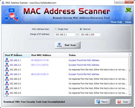 Mac Address Finder Software Mac Address Scanner 4 0 Screenshot