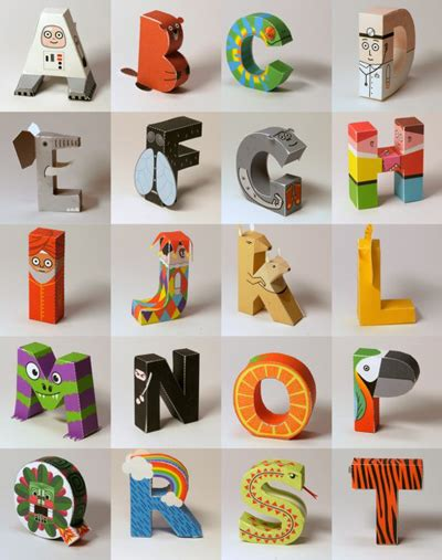 printable letters made from objects print and fold a papertoy alphabet how about orange