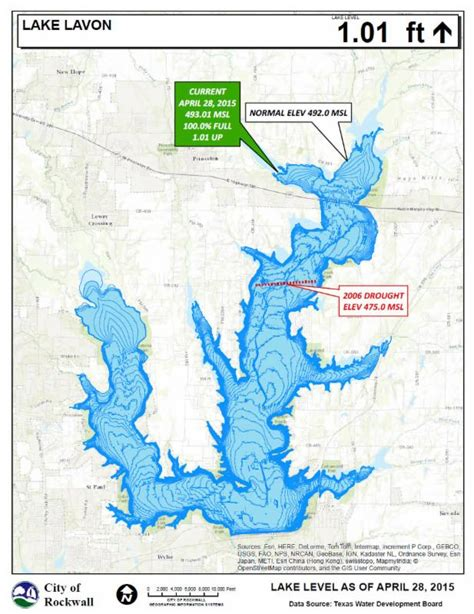 lavon texas map current area lake levels as of april 28 blue ribbon news