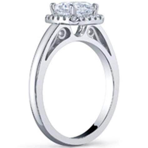 cushion cut halo with plain band cushion halo ring with plain band engagement rings