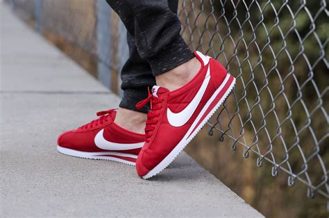 classic red nike classic cortez nylon quot red quot sneakers addict