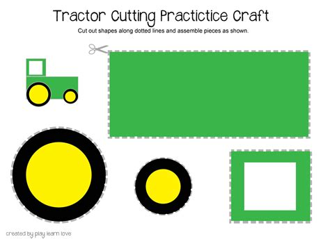 tractor cut out templates images for gt letter t activities for preschool preschool