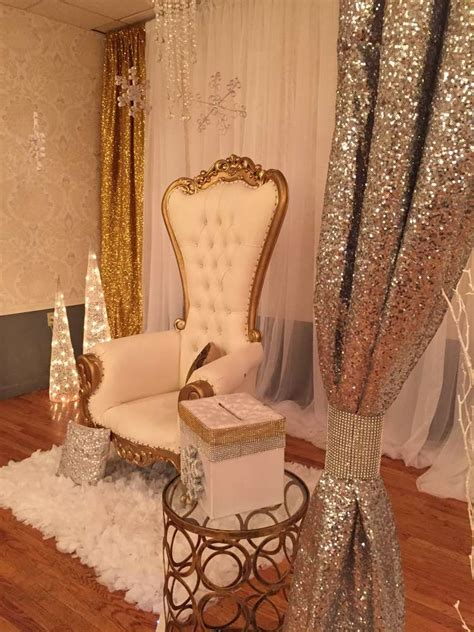 sweet 16 princess chair winter baby shower ideas photo 8 of 14