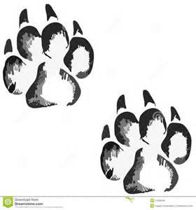 bear silhouette tattoo empreintes de pas d un grand chien ou chat illustration de vecteur image 57458846