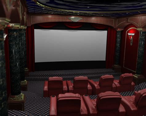home theatre interiors render reality 3d home theater renderings home theater