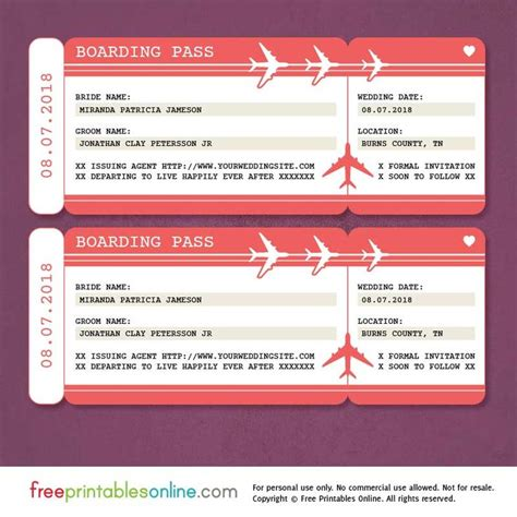 25 Best Ideas About Boarding Pass Invitation On Pinterest Save The Date Inspiration The Boarding Pass Invitation Template Free