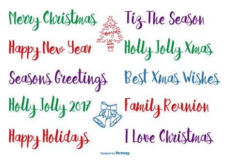 hand drawn christmas lettering   vectors clipart graphics vector art