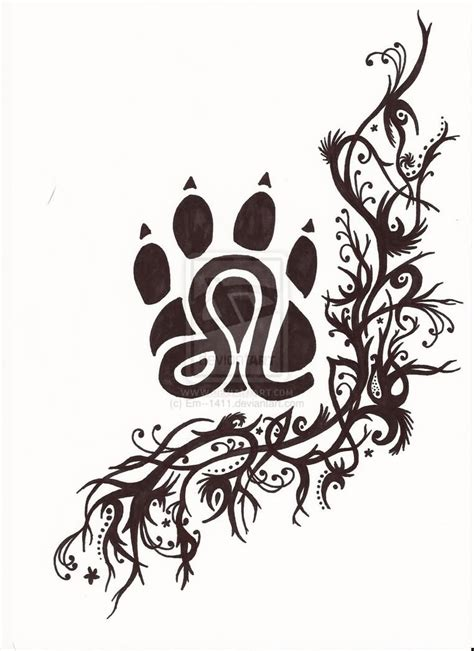 tribal footprint tattoos leo images designs