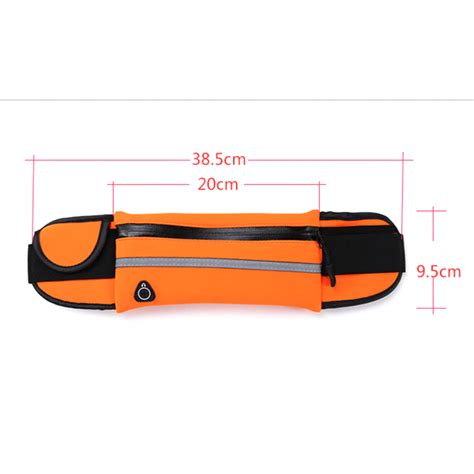 Waterproof Sports Belt With 4 Pockets Small Size Gk3y anti theft slim running cell phone waist pack bag sports belt pouch sports pockets