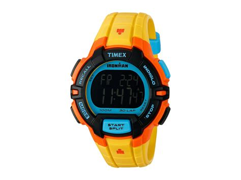 Timex Ironman 30 Rugged by Timex Ironman 174 Rugged 30 Color Block Size Yellow Color Block Zappos Free Shipping