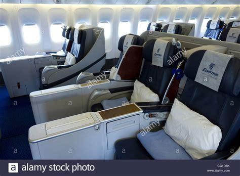 boeing 777 cabin air business class cabin boeing 777 stock photo