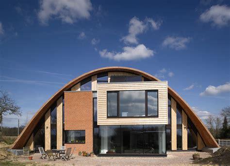 steel arch house crossway passivhaus by richard hawkes 171 inhabitat green