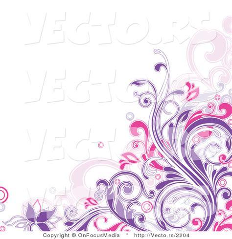 design flower purple purple swirl border vector of purple and pink floral