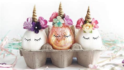 tutorial para decorar huevos de pascua c 243 mo decorar huevos de pascua de unicornios tutorial diy