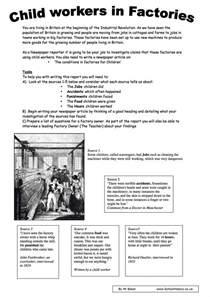 industrial revolution worksheets ks3 amp ks4 lesson plans
