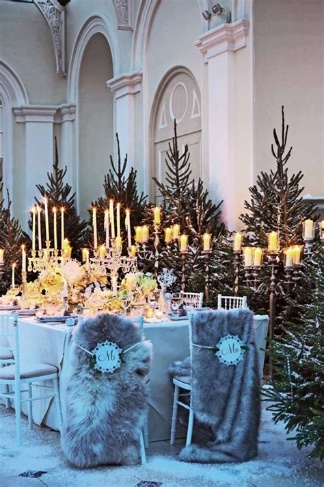 elagant christmas table tops in white theme top 20 tablescape ideas for winter wedding