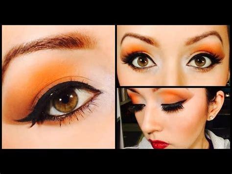 imagenes de ojos naranjas maquillaje folklorico cremita anaranjado y cafe chana