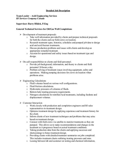 Aset Detailed Job Description Detailed Description Template
