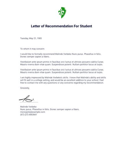 letter recommendation template coworker