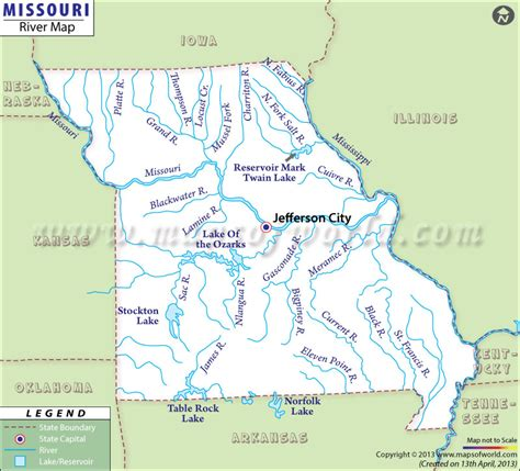 map of usa missouri river river in missouri missouri rivers map