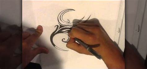 how to draw a tattoo tribal tattoo 171 howtodrawfantasy
