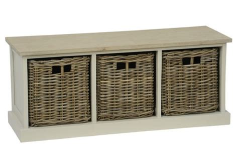 storage bench seat with baskets tobs furniture wooden white storage bench seat with 3