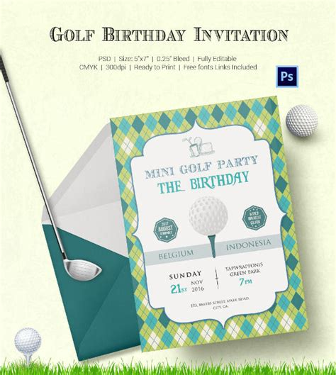 25 Fabulous Golf Invitation Templates Designs Free Premium Templates Golf Design Template