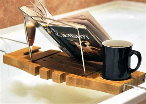bathtub book tray bamboo bath tray caddy with wineglass holder and book rest