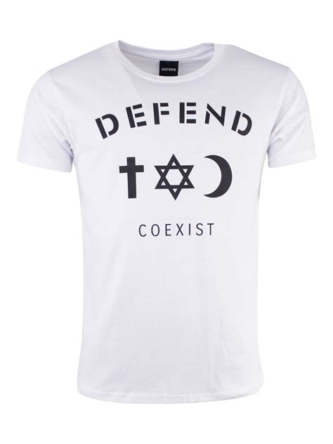 Hoodie Defend Coexist Hitamsweater buy defend coexist t shirt white