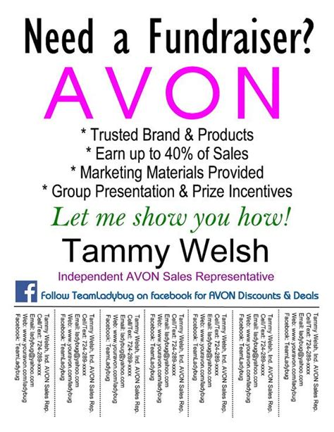 avon templates free 1000 images about avon on fundraisers avon