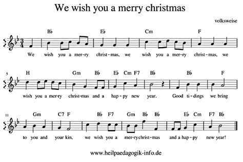 merry christmas englisch text noten
