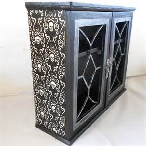 Gothic Home Decor Uk by Gothic Home Decor Gothic Cabinet Skull And By Nacreousalchemy