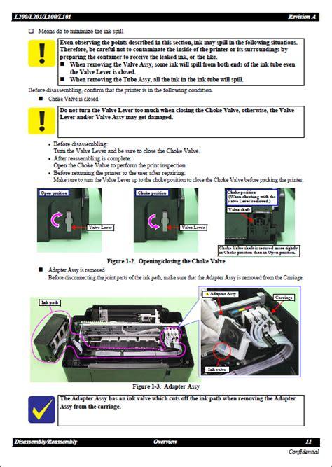 epson l200 resetter guide epson l200 l100 l201 l101 service manual