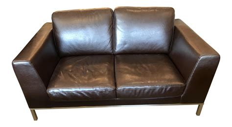 Italsofa Brown Leather Sofa Italsofa Brown Leather Loveseat Chairish