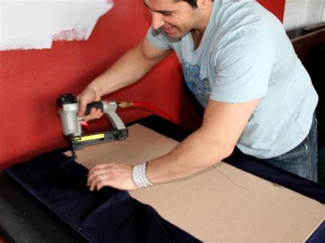 stapling upholstery home theater fabric paneled wainscotting hgtv
