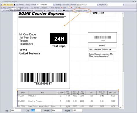 ups shipping label template bing images