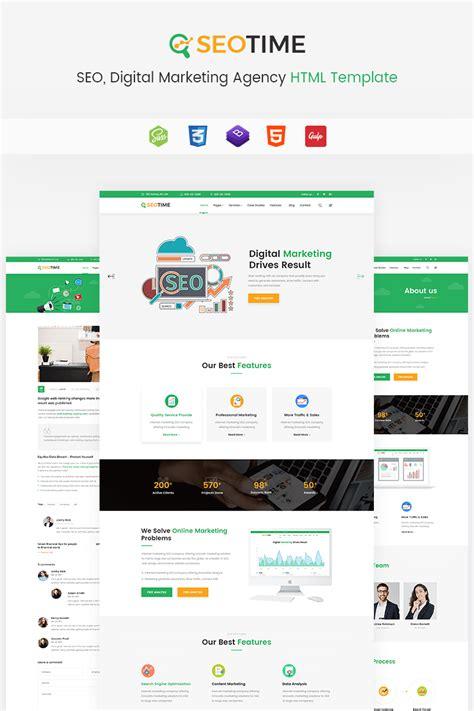 Seotime Seo Digital Marketing Agency Html Website Template 67608 Digital Marketing Website Template