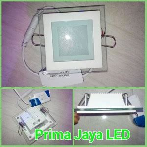 Fantas Downlight Led Panel Kaca 12 Watt Kotak White lu downlight kaca led 6 watt