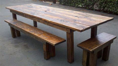 Reclaimed Wood Patio Table by Dining Room Designs Rustic Outdoor Dining Furniture