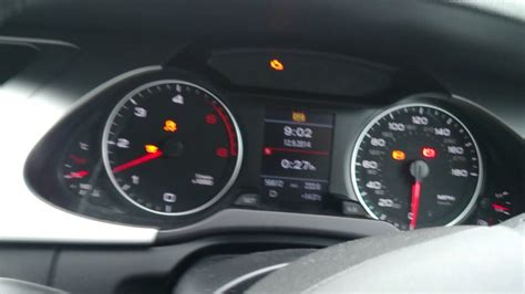 audi a4 light malfunction audi a4 b8 speedometer malfunction
