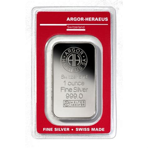 1 Ounce Silver Bars Canada - 1 ounce argor heraeus silver bullion bar