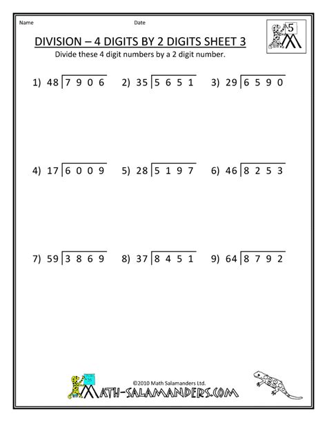 free printable worksheets on division word problems 7 division worksheets 5th grade math cover