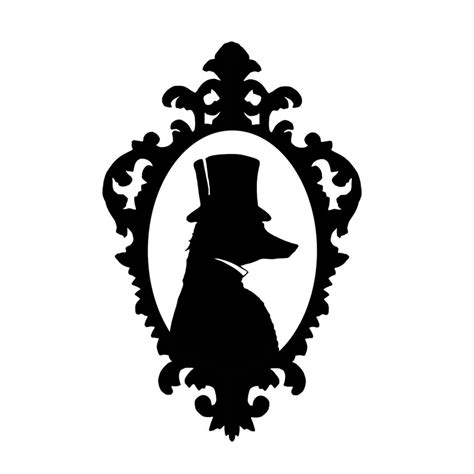 Black And White Top 1 the fox gentleman silhouette print black and white top hat