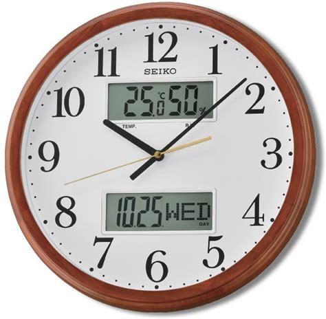 analog and digital wall clock seiko analog digital wall clock price in india buy seiko