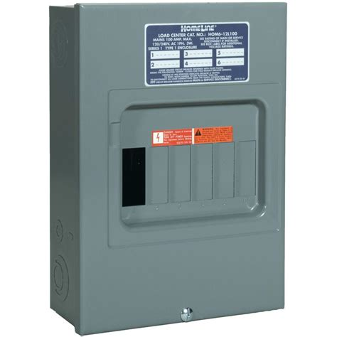 Square D Homeline 100 Amp 6 Space 12 Circuit Indoor