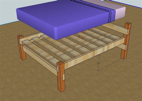 Make A Bed Frame From Wood Build A Bed Furniture And Recycling Furniture
