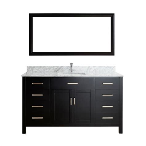 studio bathe calais 63 in vanity in espresso with solid surface studio bathe calais 63 in vanity in espresso with marble