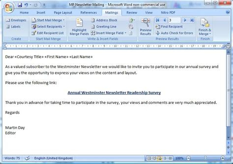 Invitation Letter Using Mail Merge invitation card using mail merge image collections