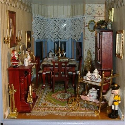 images  dollhouse dining rooms  pinterest