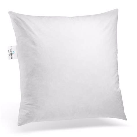 What Size Is A European Pillow by Comfydown Square Pillow Insert Feather All